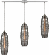 ELK 21193-3L Liz Contemporary Satin Nickel Multi Hanging Light Fixture