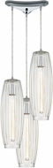 ELK 21210-3 Satin Veil Contemporary Polished Chrome Multi Drop Ceiling Lighting