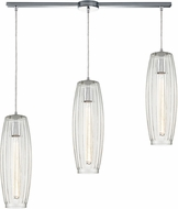 ELK 21210-3L Satin Veil Modern Polished Chrome Multi Ceiling Light Pendant