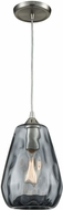 ELK 25101-1 Tulare Contemporary Satin Nickel Mini Pendant Lighting Fixture