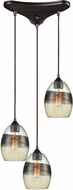 ELK 25122-3 Whisp Modern Oil Rubbed Bronze Multi Drop Ceiling Light Fixture
