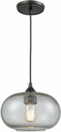 ELK 25124-1 Volace Contemporary Oil Rubbed Bronze Mini Hanging Pendant Light
