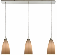 ELK 2584-3LP Vesta Modern Satin Nickel Multi Pendant Lighting