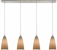 ELK 2584-4LP Vesta Contemporary Satin Nickel Multi Pendant Light