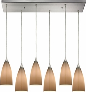 ELK 2584-6RC Vesta Modern Satin Nickel Multi Lighting Pendant
