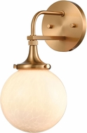 ELK 30141-1 Beverly Hills Contemporary Satin Brass Wall Lighting