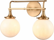 ELK 30142-2 Beverly Hills Contemporary Satin Brass 2-Light Bath Lighting Sconce