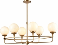 ELK 30147-6 Beverly Hills Contemporary Satin Brass Kitchen Island Lighting