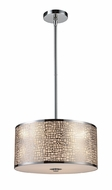 ELK 310423 Medina Medium 3-lamp Contemporary Pendant Light Fixture in Polished Stainless Steel