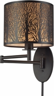 ELK 31069-1 Woodland Sunrise Oil Rubbed Bronze Swing Arm Lamp