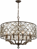 ELK 31089-9 Armand Weathered Bronze Drum Pendant Lamp