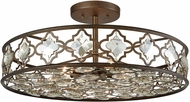 ELK 31093-8 Armand Weathered Bronze Flush Mount Ceiling Light Fixture