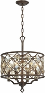 ELK 31096-4 Armand Weathered Bronze Drop Lighting Fixture