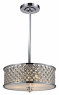 ELK 31101/3 Genevieve 16 Inch Diameter Drum Pendant Light Fixture - Polished Chrome