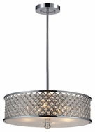 ELK 31105/4 Genevieve 21 Inch Diameter Medium Crystal Pendant Drum Light - Polished Chrome