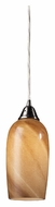 ELK 31137/1 Sandstone 11 Inch Tall Satin Nickel Mini Pendant Lighting