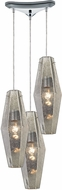 ELK 31216-3 Pelham Modern Polished Chrome Multi Lighting Pendant