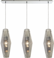 ELK 31216-3LP Pelham Contemporary Polished Chrome Multi Pendant Lamp