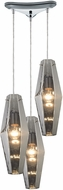 ELK 31217-3 Pelham Modern Polished Chrome Multi Pendant Light Fixture