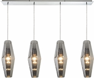 ELK 31217-4LP Pelham Modern Polished Chrome Multi Hanging Pendant Lighting
