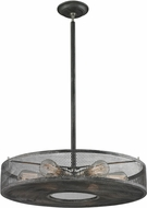 ELK 31237-6 Slatington Contemporary Silvered Graphite/Brushed Nickel Pendant Light Fixture