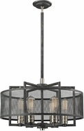ELK 31238-6 Slatington Modern Silvered Graphite/Brushed Nickel Pendant Lighting Fixture