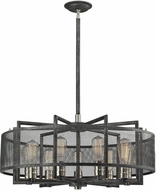 ELK 31239-9 Slatington Contemporary Silvered Graphite/Brushed Nickel Hanging Pendant Lighting