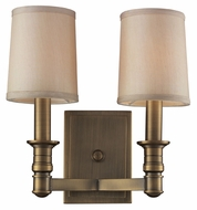 ELK 31261/2 Baxter Brass 12 Inch Tall Wall Sconce With Shades