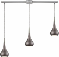 ELK 31340-3L-WZ Lindsey Modern Satin Nickel Halogen Multi Drop Lighting Fixture