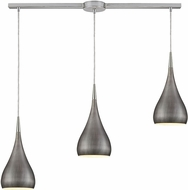 ELK 31341-3L-WZ Lindsey Contemporary Satin Nickel Halogen Multi Hanging Lamp