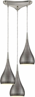 ELK 31341-3WZ Lindsey Modern Satin Nickel Halogen Multi Hanging Light
