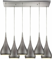 ELK 31341-6RC-WZ Lindsey Contemporary Satin Nickel Halogen Multi Pendant Light Fixture
