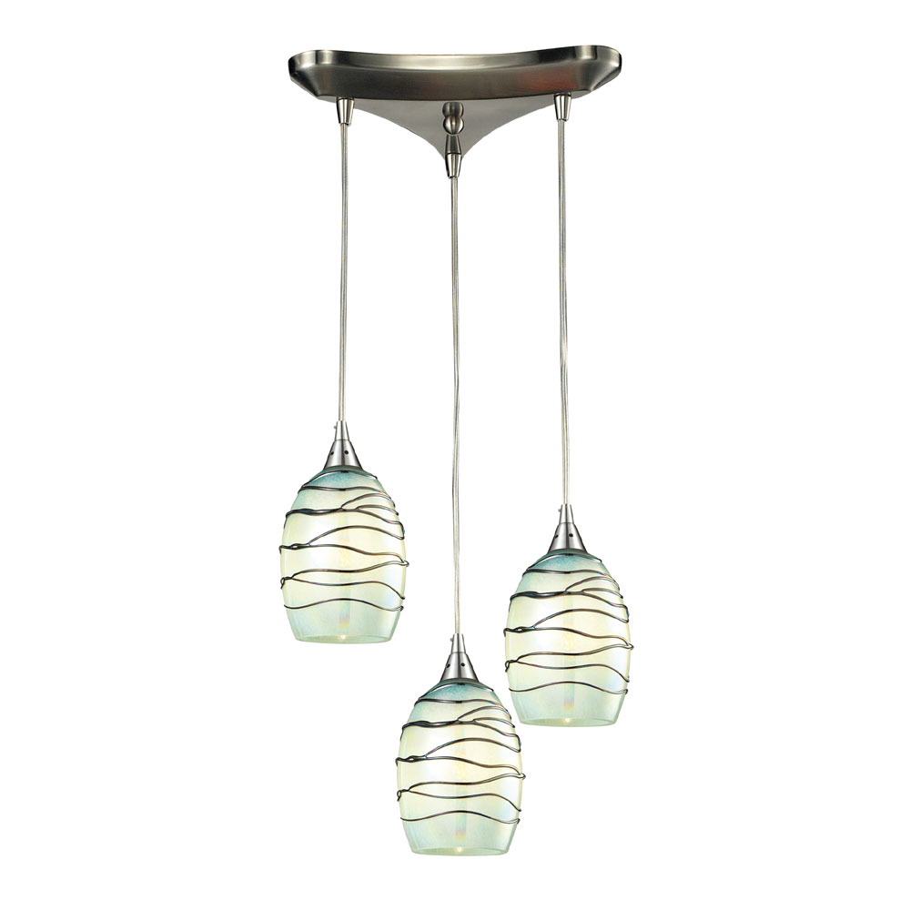 Elk 31348 3mn Vines Modern Satin Nickel Multi Pendant Lighting Fixture Loading Zoom