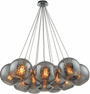 ELK 31380-12SR Watersphere Contemporary Polished Chrome Multi Pendant Hanging Light