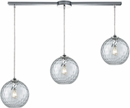 ELK 31380-3L-CLR Watersphere Contemporary Polished Chrome Multi Pendant Hanging Light