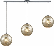 ELK 31380-3L-MRC Watersphere Modern Polished Chrome Multi Hanging Light Fixture