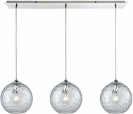 ELK 31380-3LP-CLR Watersphere Contemporary Polished Chrome Multi Drop Lighting