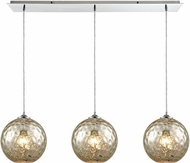 ELK 31380-3LP-MRC Watersphere Modern Polished Chrome Multi Drop Ceiling Lighting