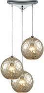 ELK 31380-3MRC Watersphere Contemporary Polished Chrome Multi Ceiling Light Pendant