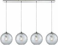 ELK 31380-4LP-CLR Watersphere Modern Polished Chrome Multi Ceiling Pendant Light