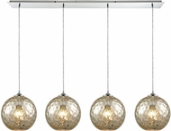 ELK 31380-4LP-MRC Watersphere Contemporary Polished Chrome Multi Drop Ceiling Light Fixture