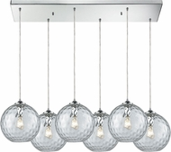 ELK 31380-6RC-CLR Watersphere Modern Polished Chrome Multi Drop Lighting Fixture