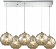 ELK 31380-6RC-MRC Watersphere Contemporary Polished Chrome Multi Pendant Lighting