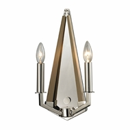 ELK 31470-2 Madera Contemporary Polished Nickel Wall Sconce