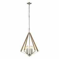 ELK 31474-5 Madera Modern Polished Nickel Foyer Light Fixture