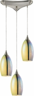 ELK 31495-3 Horizon Modern Satin Nickel Multi Drop Lighting Fixture
