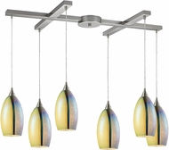 ELK 31495-6 Horizon Modern Satin Nickel Multi Pendant Light