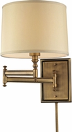 ELK 31520-1 Swingarm Brushed Antique Brass Swing Arm Lamp