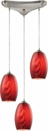 ELK 31610-3 Tidewaters Modern Satin Nickel Multi Hanging Pendant Light