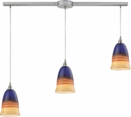 ELK 31615-3L Canyon Modern Satin Nickel Multi Ceiling Pendant Light